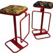 Дизайн от Tomito Kazuhiko. Micado - стулья, сидушки которых обшиты имперской тканью из Киото