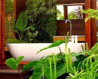 Интерьер ванной комнаты в тропическом стиле